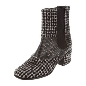 Chanel Python trim anchor boots 38.5 US 8